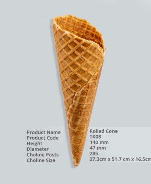 ვაფლის ჭიქა (Rolled Cone) 285 ც