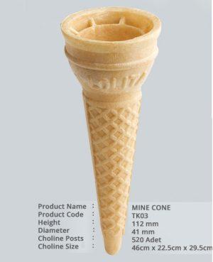 ვაფლის ჭიქა (Mine Cone) 520 ც
